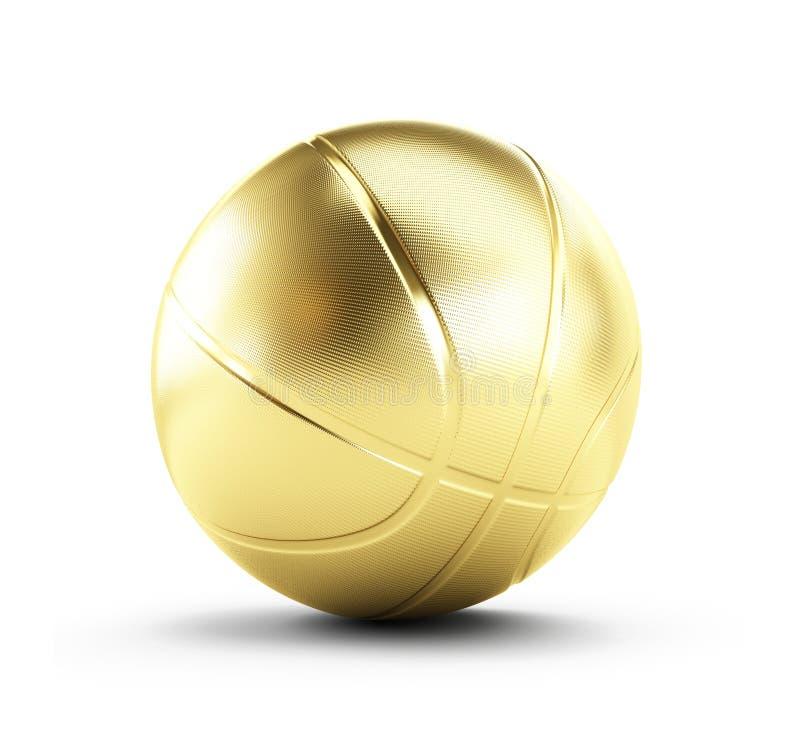 Download Goldbasketballkugel stock abbildung. Illustration von sport - 27735116