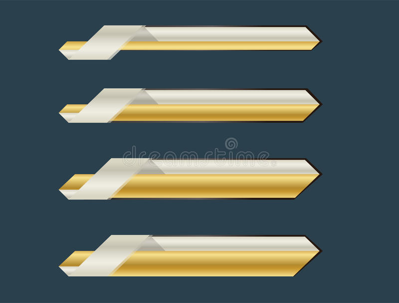 Goldbauchbindefahne lizenzfreie stockbilder