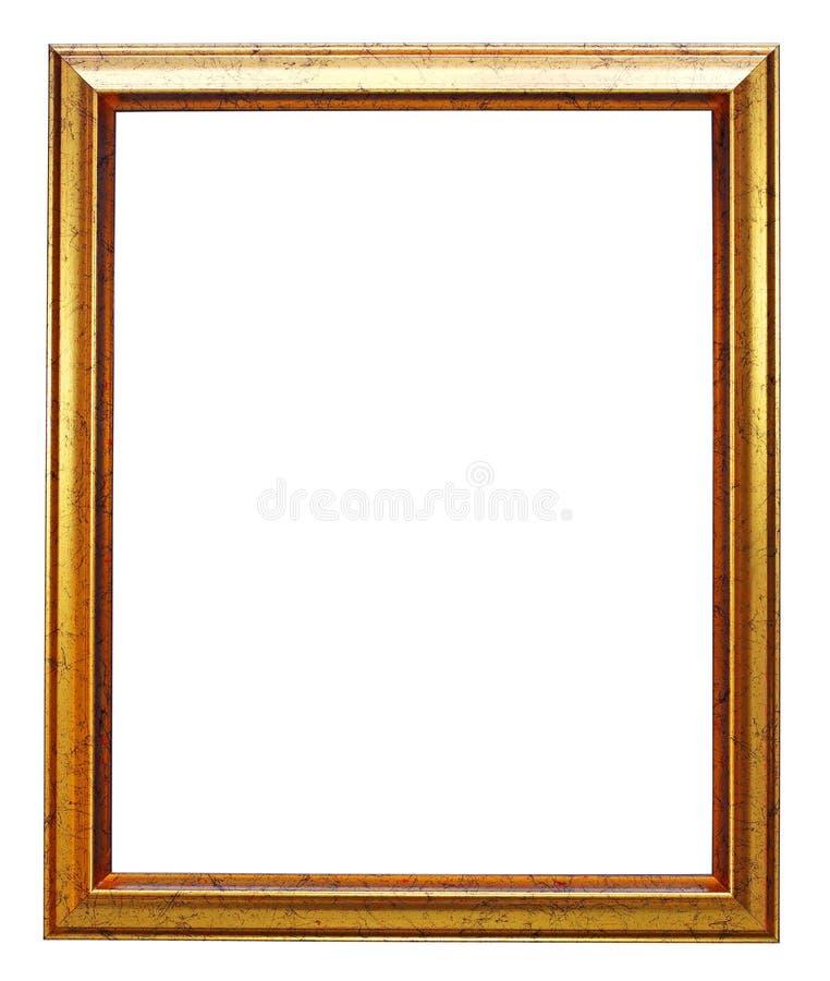 Goldbilderrahmen stockbild