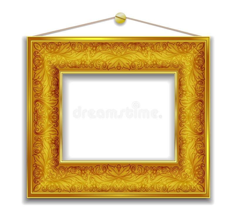 Goldbilderrahmen stock abbildung