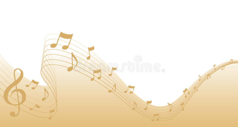 Goldblatt-Musik-Seiten-Rand stock abbildung