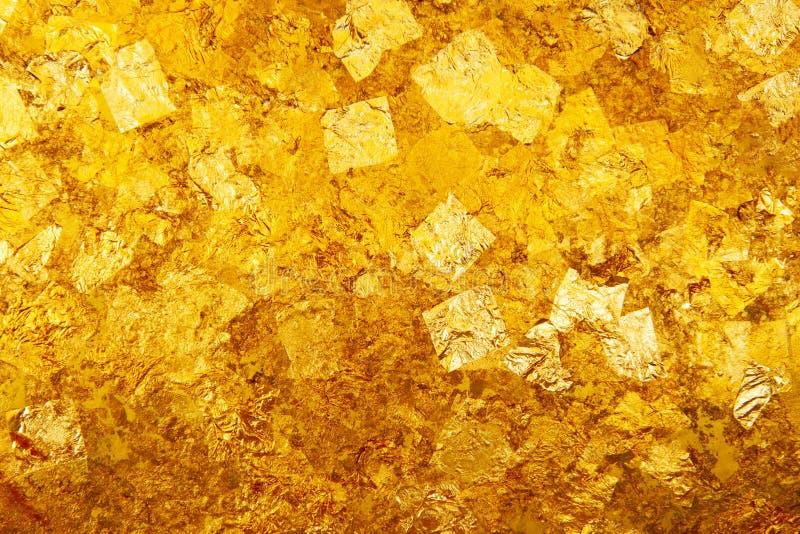 Goldblattbeschaffenheit lizenzfreies stockfoto