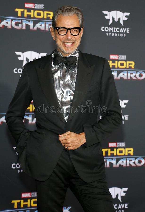 goldblum jeff royaltyfri bild