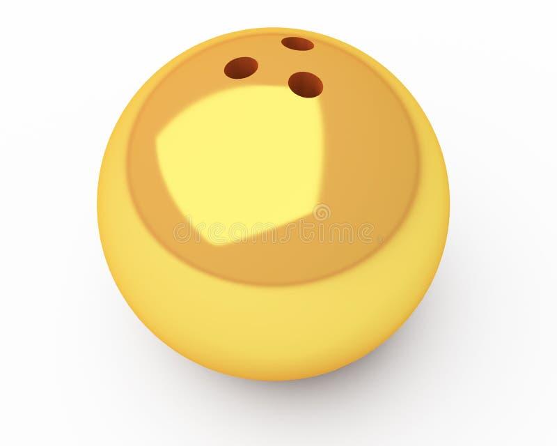 Goldbowlingspielkugel vektor abbildung