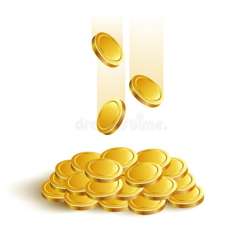 GoldCoinsVectorEps ελεύθερη απεικόνιση δικαιώματος