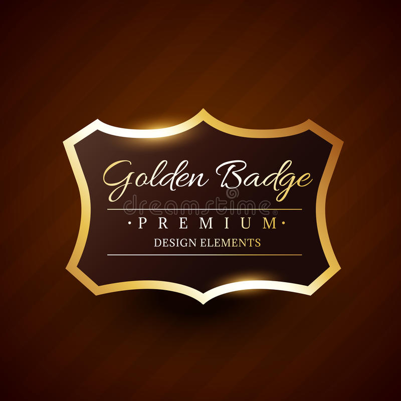 Goldeb premium badge label vector design royalty free illustration