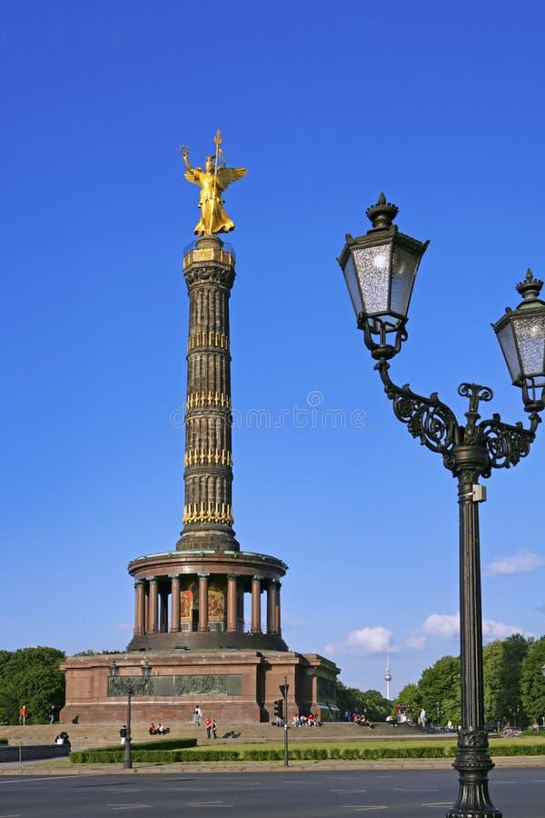 Goldelse, Victory Column in Berlin, Deutschland lizenzfreies stockbild