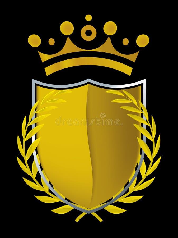 Goldemblem (Vektor) lizenzfreie abbildung