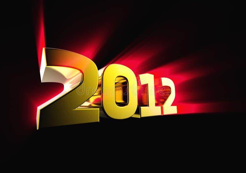 Download Golden 2012 stock illustration. Image of year, smokey - 22414963