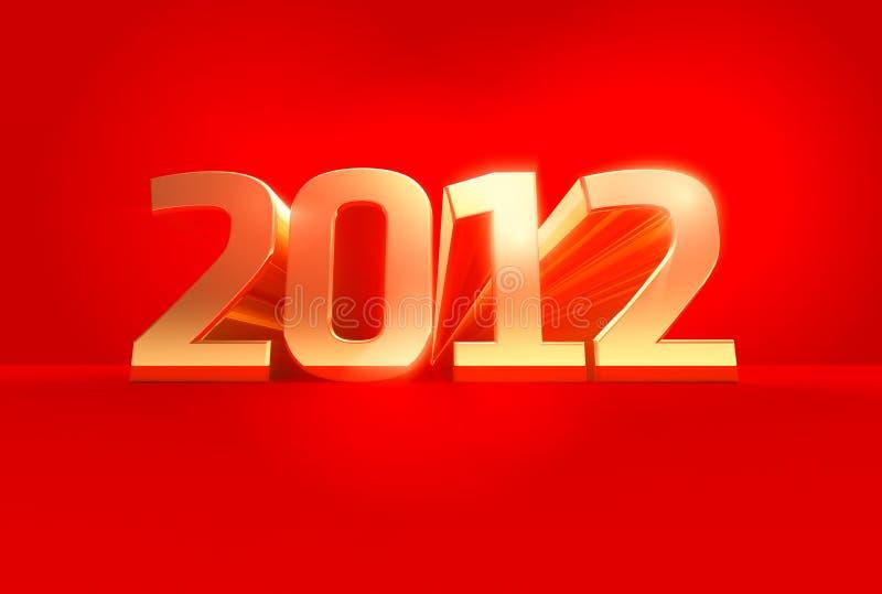 Download Golden 2012 stock illustration. Illustration of celebrate - 22468721