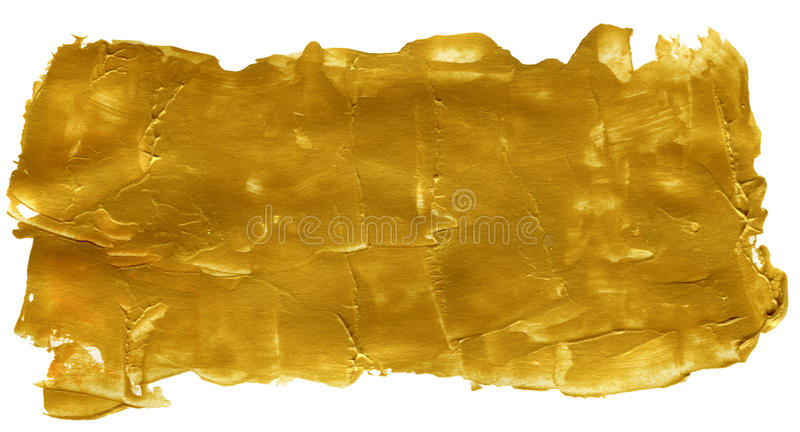 Golden Abstract Acrylic Painted Background royalty free stock images