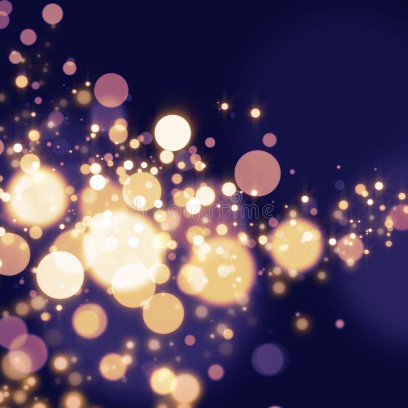 Golden Abstract Bokeh light Background royalty free illustration
