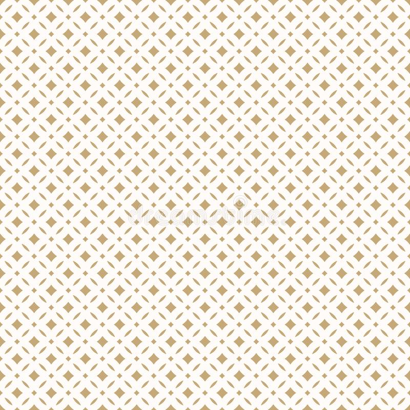 Golden abstract floral seamless pattern. Delicate luxury graphic texture. Golden abstract floral seamless pattern. Vector gold and white background. Simple stock illustration