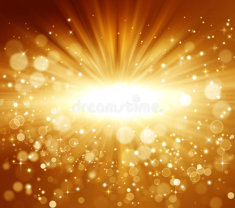 Golden Abstract holiday background vector illustration