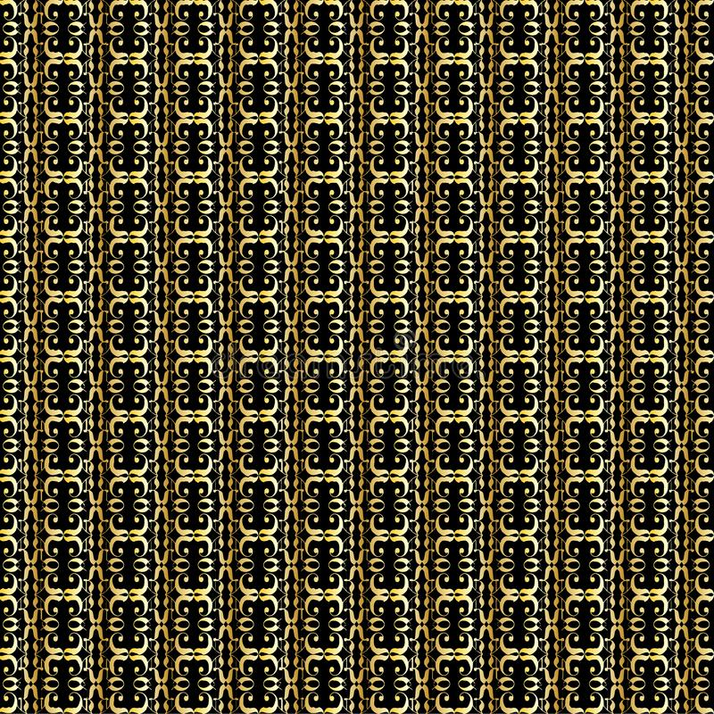 Golden Abstract Linked Background vector illustration