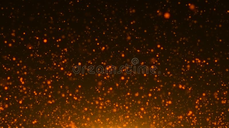 Golden abstract sparkles or glitter lights. Abstract festive gold background stock illustration