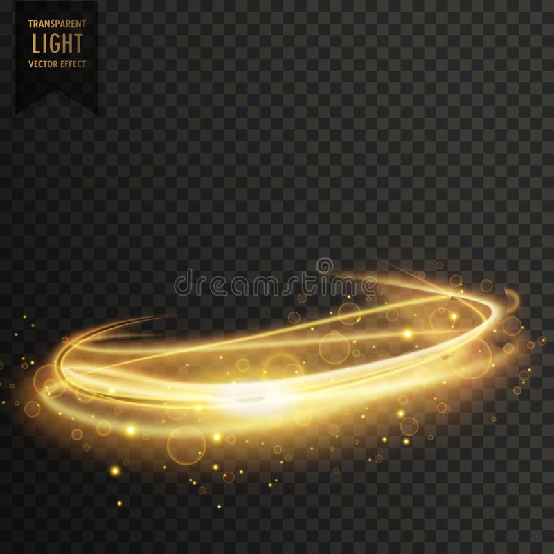 Golden abstract transparent light effect background stock illustration