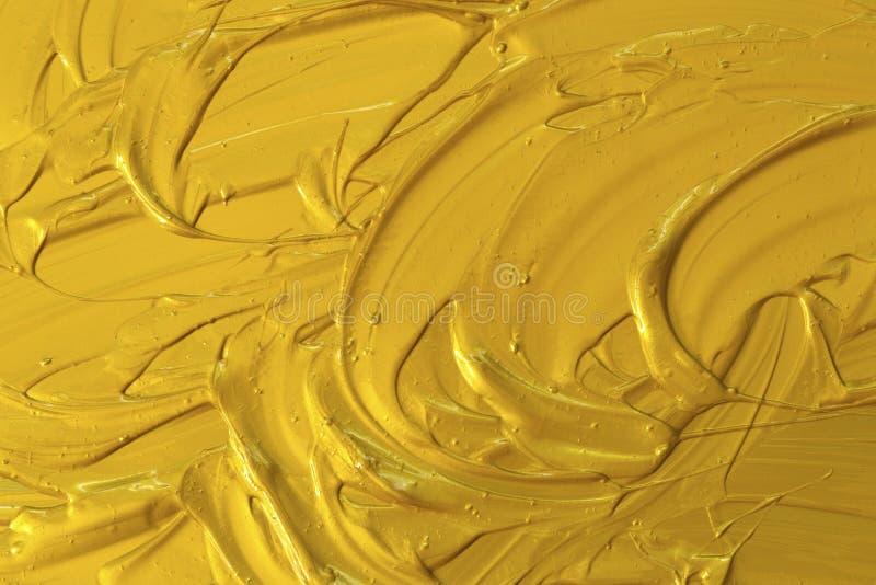 Golden acrylic texture, wave, stock photography