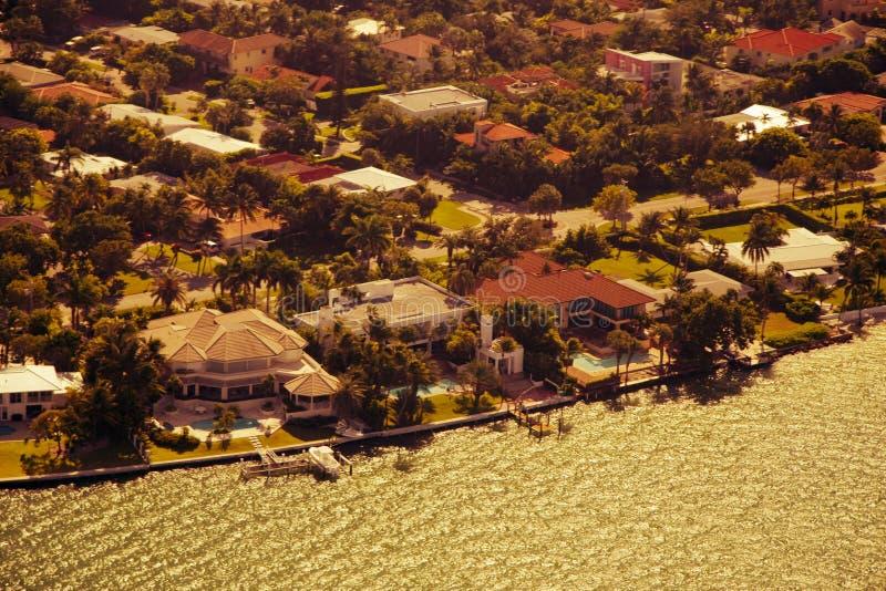 Aerial view of Miami stock photo