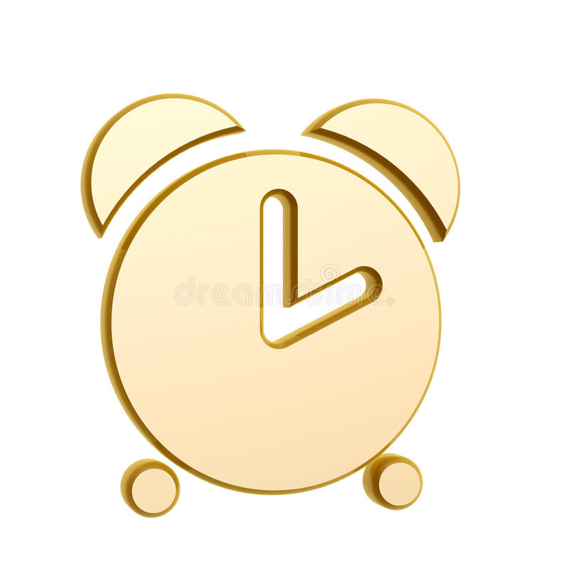 Download Golden alarm clock stock illustration. Image of white - 29867104