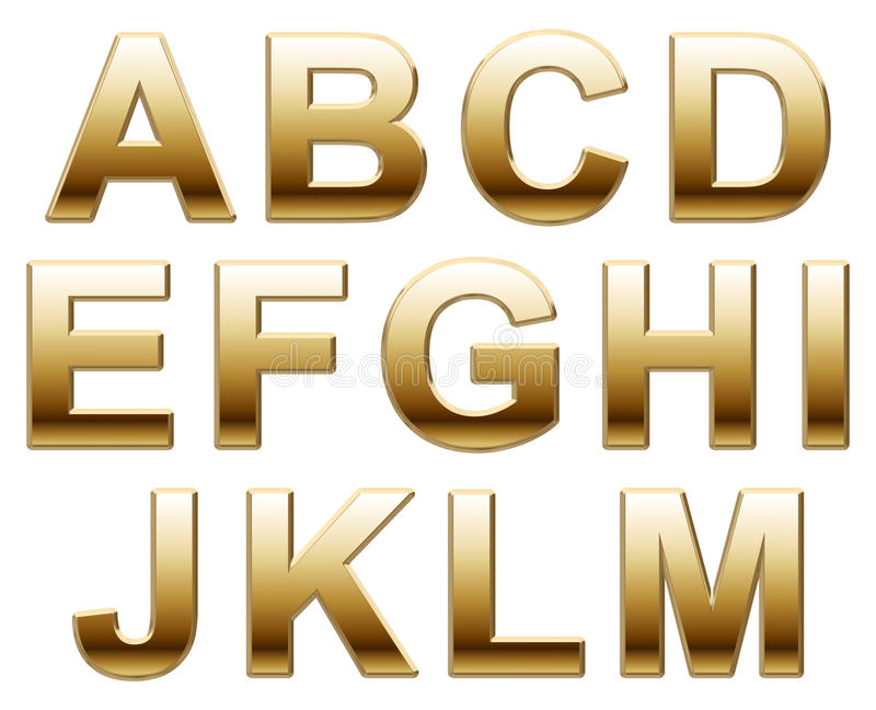 Gold letters royalty free stock image