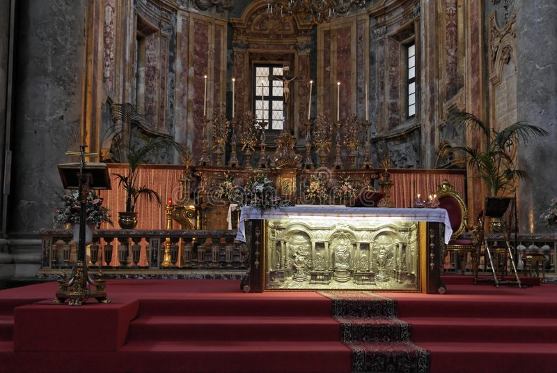 Golden Altar San Giuseppe Dei Teatini Royalty Free Stock Photography