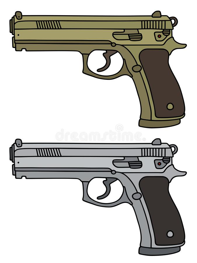 Free Golden And Silver Luxus Handguns Stock Photos - 102886363