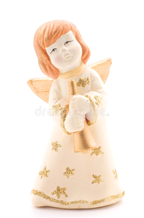 Download Golden angel stock photo. Image of love, christmas, gleam - 7577546