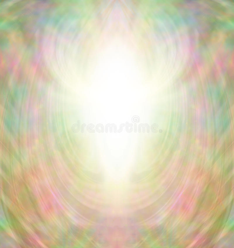 Golden Angel Aura Background stock illustration