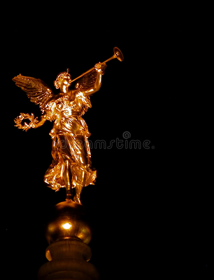 Golden angel in Dresden royalty free stock photos