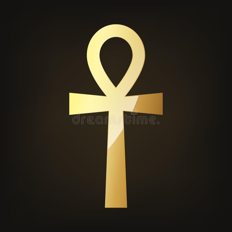Golden Ankh Egyptian Cross Vector Illustration Stock Illustration