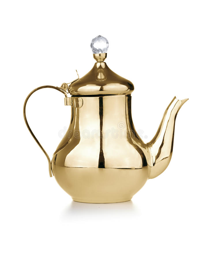 Golden Antique Teapot royalty free stock images