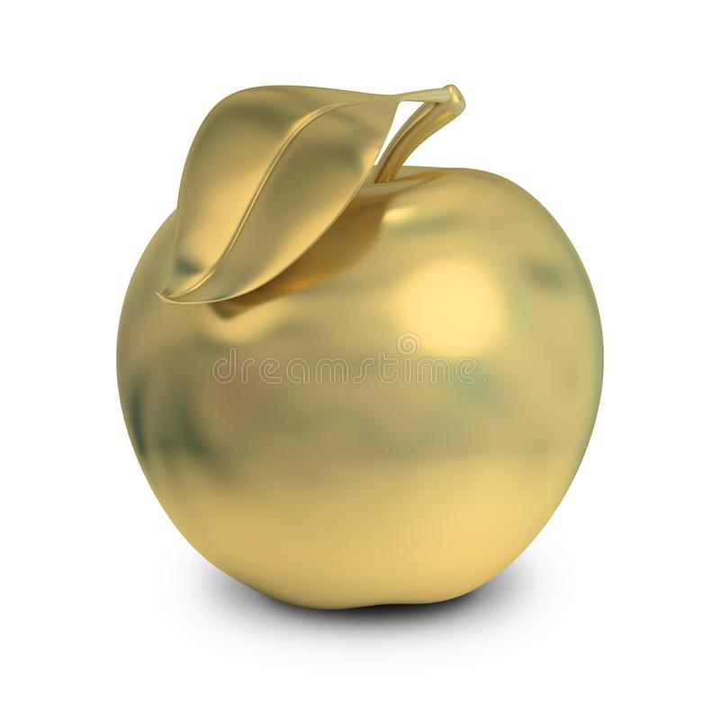 Golden apple royalty free illustration