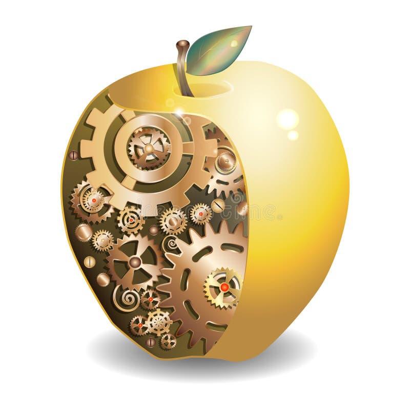 Golden apple stock illustration