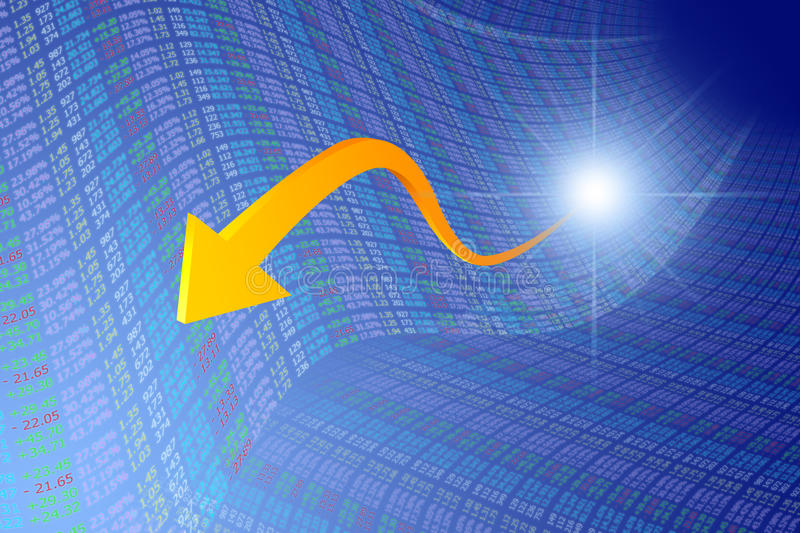 Download Golden Arrow From Financial Opportunity Stock Illustration - Image: 24211699