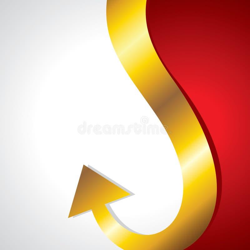 Download Golden arrow go upper side stock vector. Illustration of abstract - 28427406
