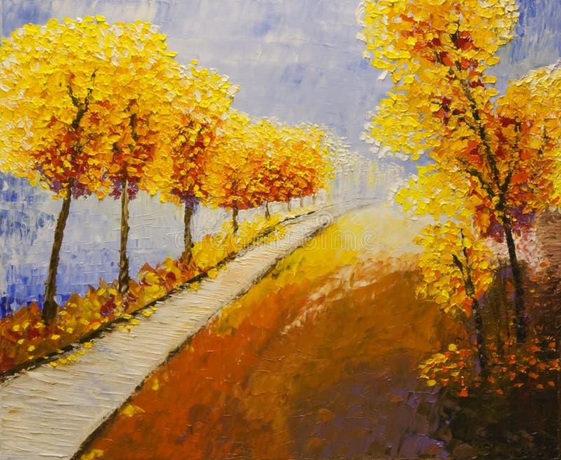 Golden aspens stock images