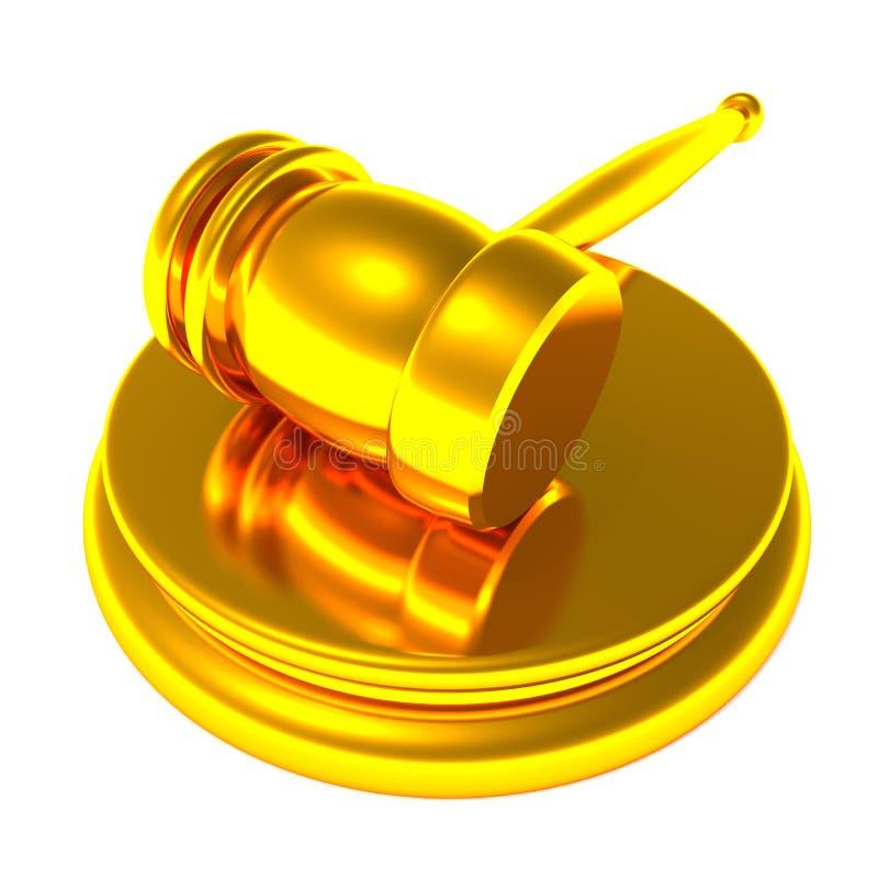 Golden auction gavel stock illustration