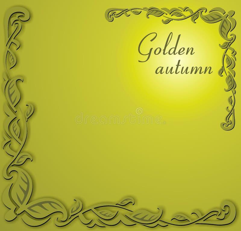 Download Golden autumn stock vector. Illustration of golden, design - 3388455