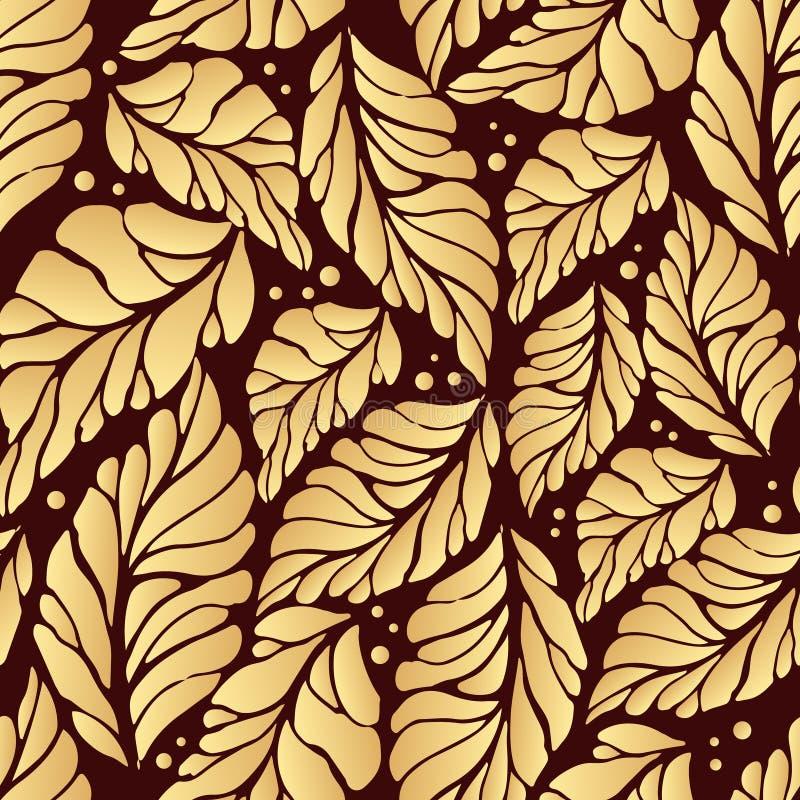 Golden autumn pattern royalty free stock photo