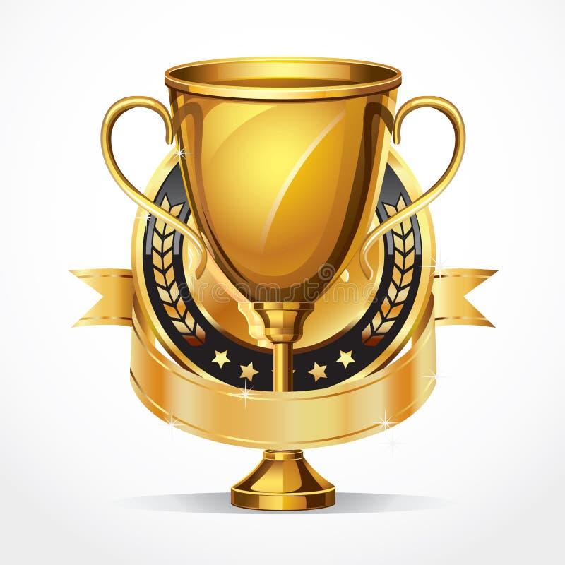 Download Golden Award Trophy And Medal. Stock Vector - Illustration of celebration, great: 38944315