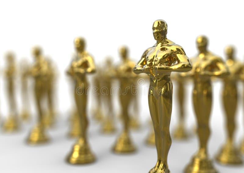 Golden awards stock illustration