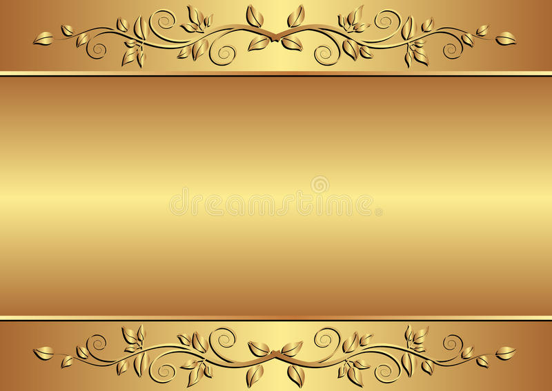 Download Golden background stock vector. Image of background, ornaments - 23511512