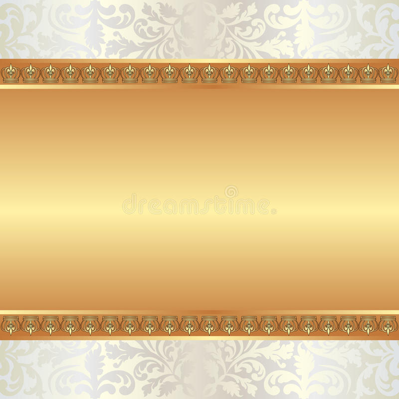 Download Golden background stock vector. Image of plate, graphic - 23632639