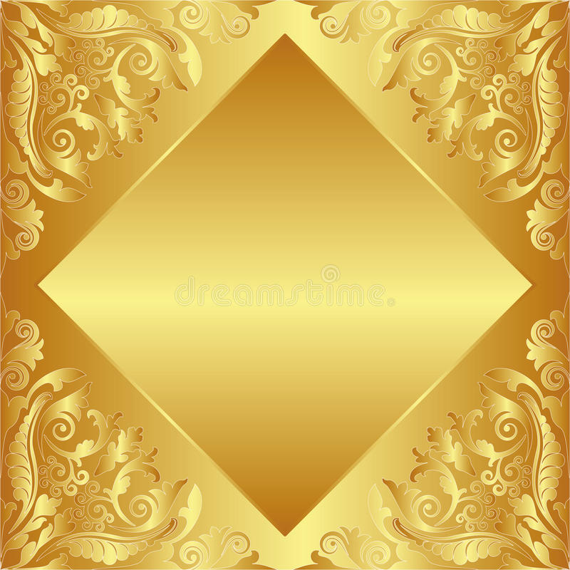 Download Golden background stock vector. Image of graphic, beautiful - 24386217
