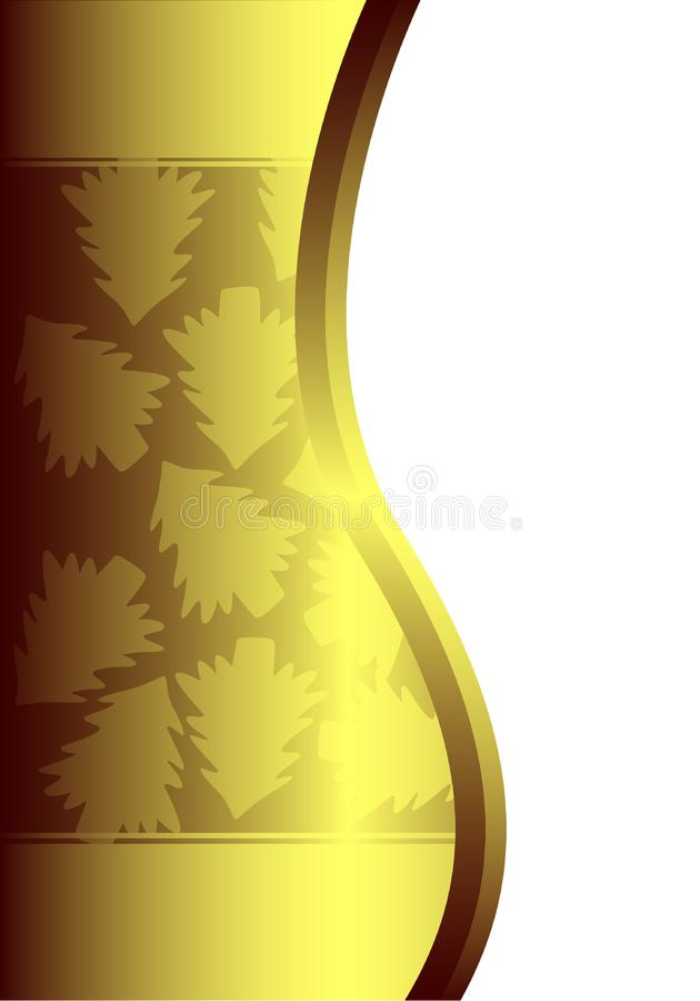 Golden background with christmas trees royalty free stock photo