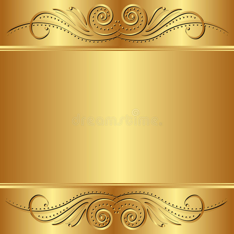 Golden background vector illustration