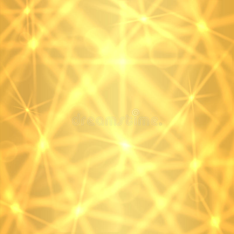 Golden background with sparkling twinkling stars royalty free stock photography