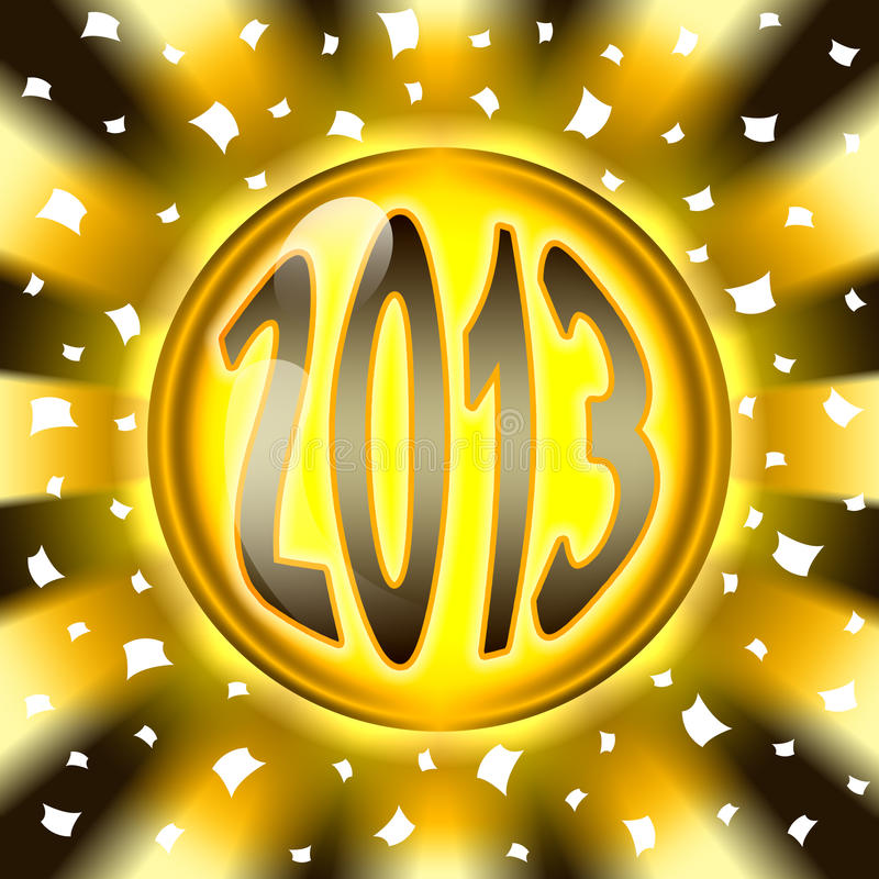 Download Golden ball 2013 stock illustration. Illustration of years - 28273363
