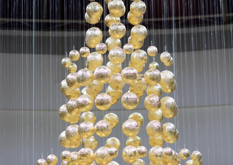 Download Golden balls on strings stock image. Image of foil, wrap - 28751133